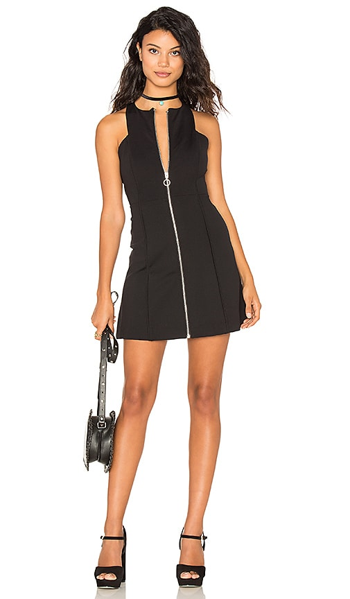 Free People Hi Neck Cool Dress in Black