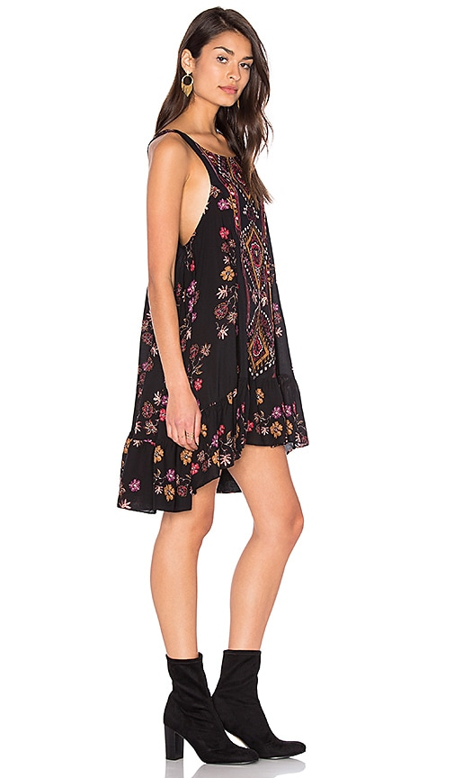 Free People Annka Boarder Slip Dress in Black