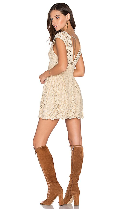 Free People One Million Lovers Dress in Beige