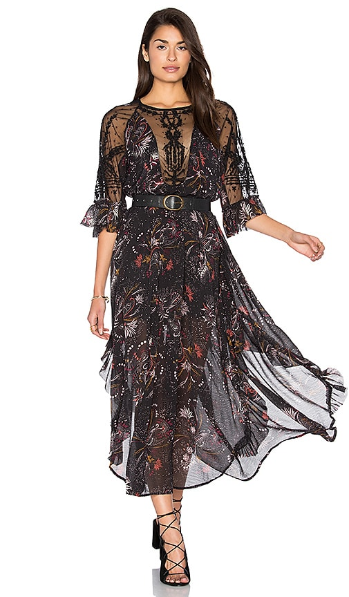 Free People Spirit of the Wild Dress in Black