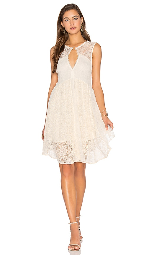 Free People Don't You Dare Dress in Cream