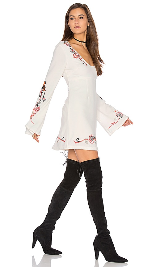 4e9359d32f13 Free People Holiday Folk Mini Dress in Ivory Combo 80%OFF ...