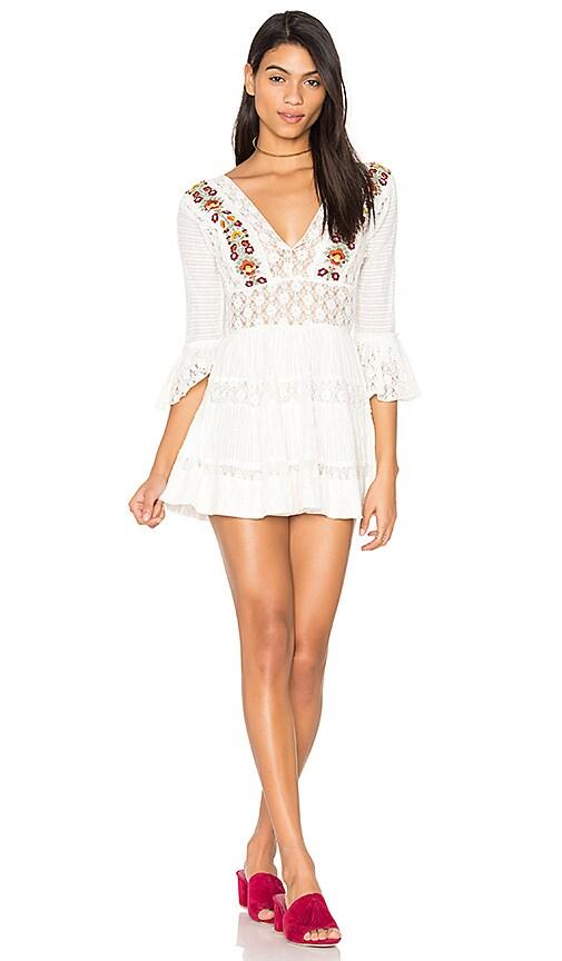 Free People Antiquity Mini Dress in White
