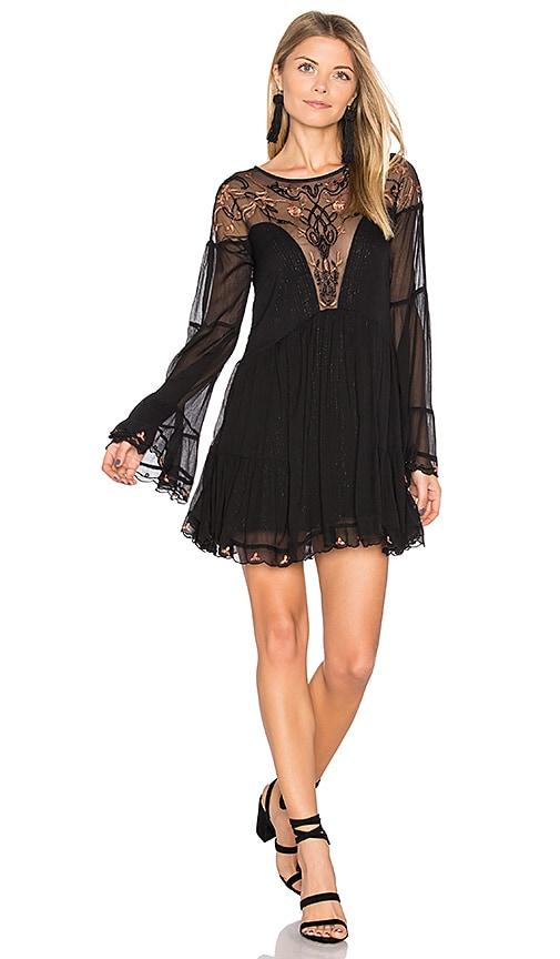 Free People Panama City Mini Dress in Black