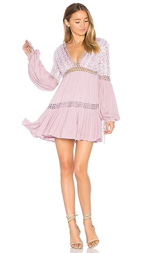 Free People Dusk Till Dawn Mini Dress in Purple