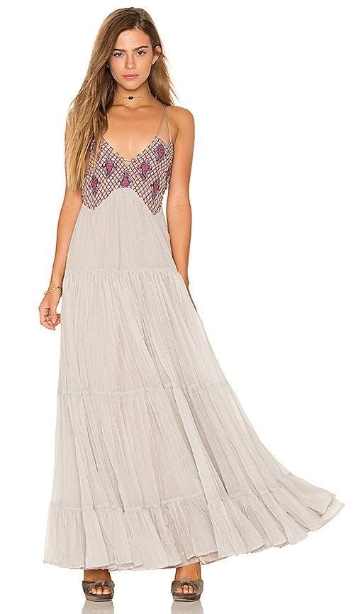 Free People Lost in a Dream Maxi Dress in Gray