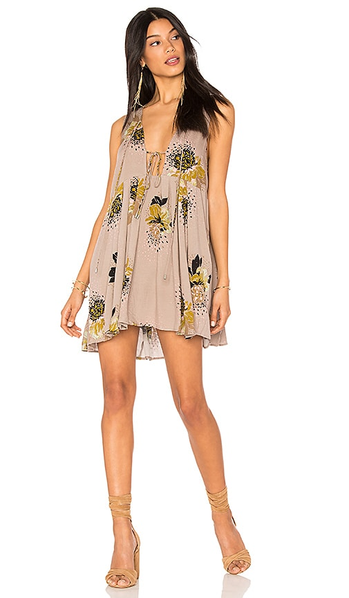 Free People Lovely Day Printed Tunic in Gray