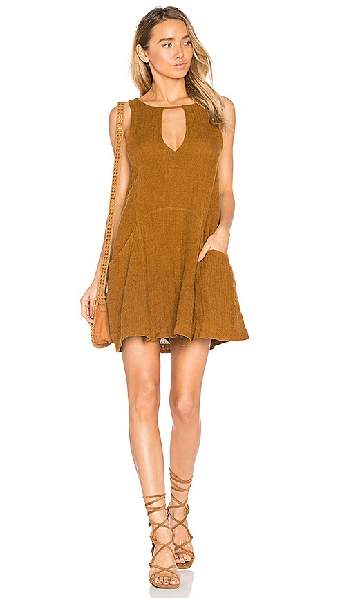 Free People Smooth Sailing Mini Dress in Yellow