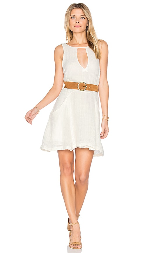 Free People Smooth Sailing Mini Dress in White
