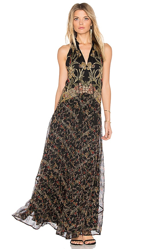Free People Take Me Away Maxi Dress in Black