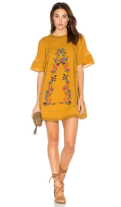 Free People Perfectly Victorian Dress in Yellow