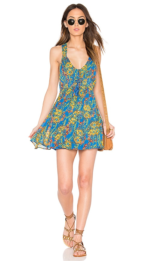 Free People Washed Ashore Mini Dress in Blue