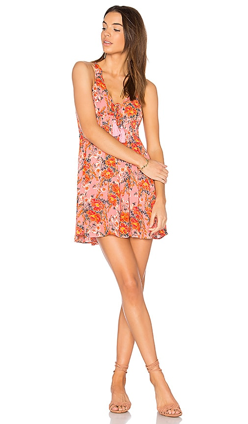 Free People Washed Ashore Mini Dress in Pink