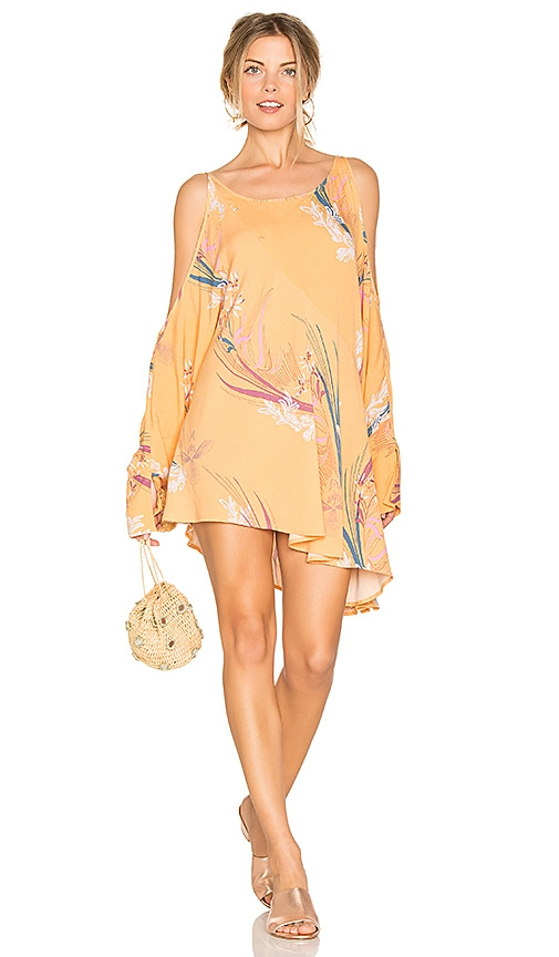 Free People Clear Skies Printed Tunic in Orange