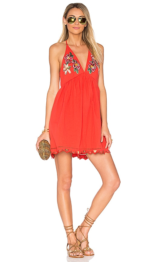 Free People Love and Flowers Dress in Red