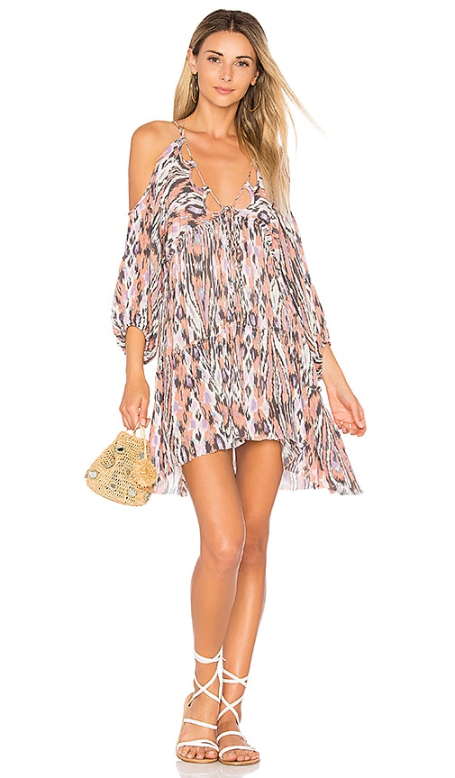 Free People Monarch Mini Dress in Mauve