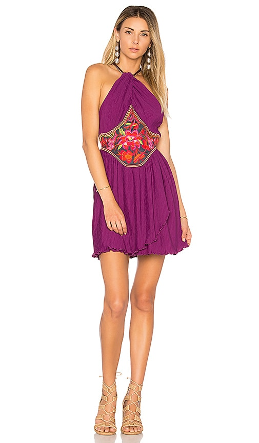Free People Marcella Mini Dress in Purple