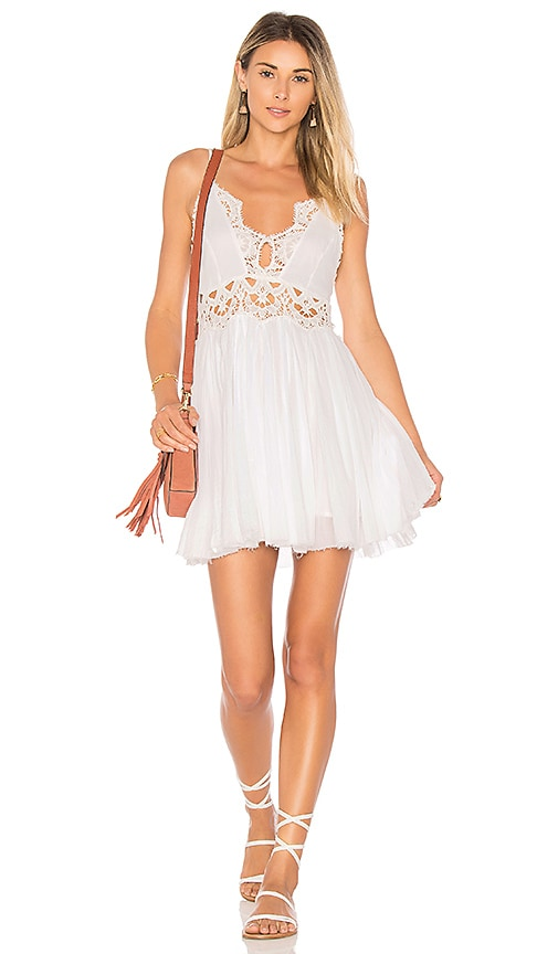Free People Ilektra Mini Dress in White