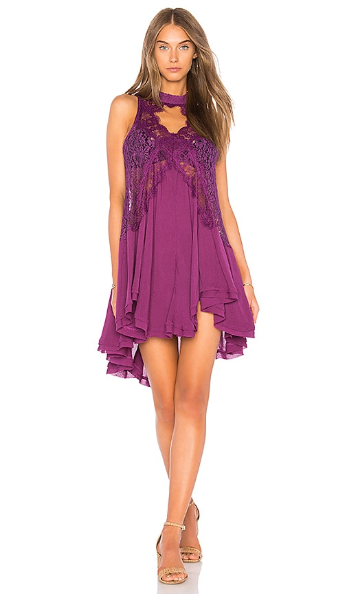Free People Tell Tale Heart Sleeveless Tunic in Purple