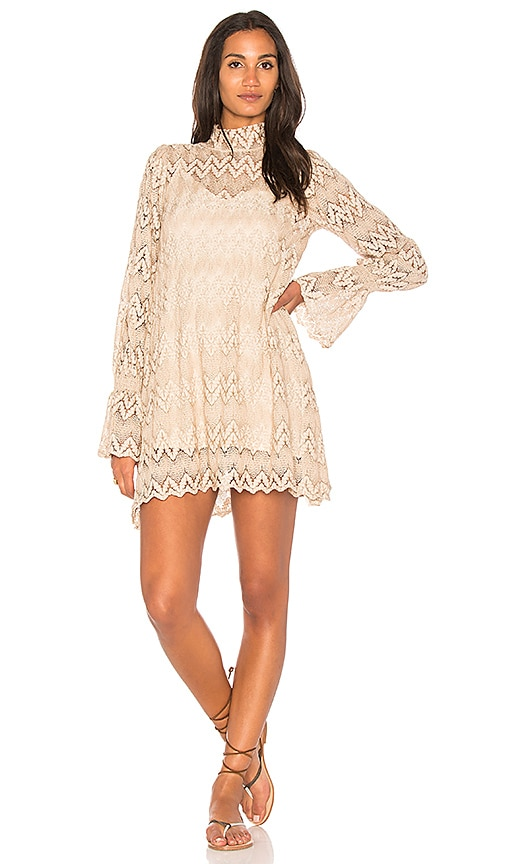 Free People Simone Mini Dress in Beige