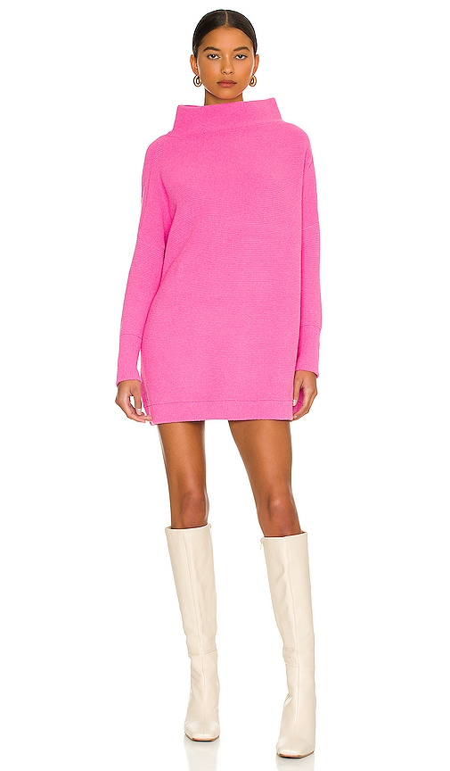 Free People Ottoman Slouchy Tunic Sweater Dress in Pink