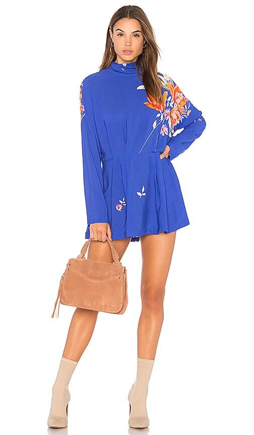 Free People Gemma Tunic Dress in Blue
