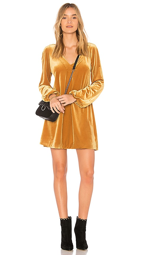 Free People Misha Mini Dress in Yellow