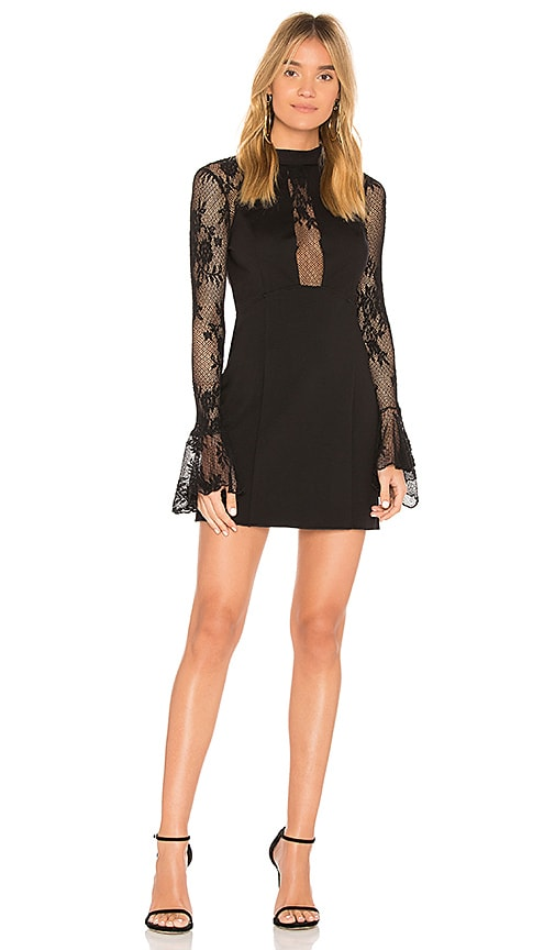 Free People It's Now or Never Mini Dress in Black