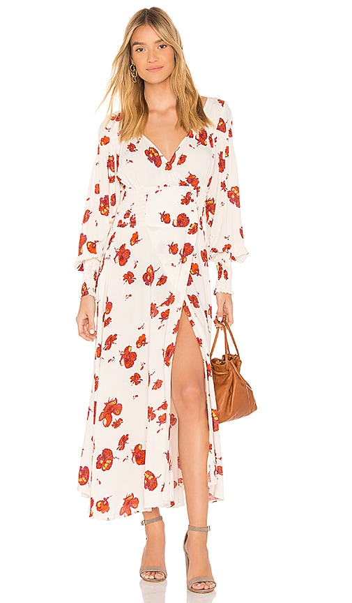 Free People So Sweetly Midi Dress in Ivory