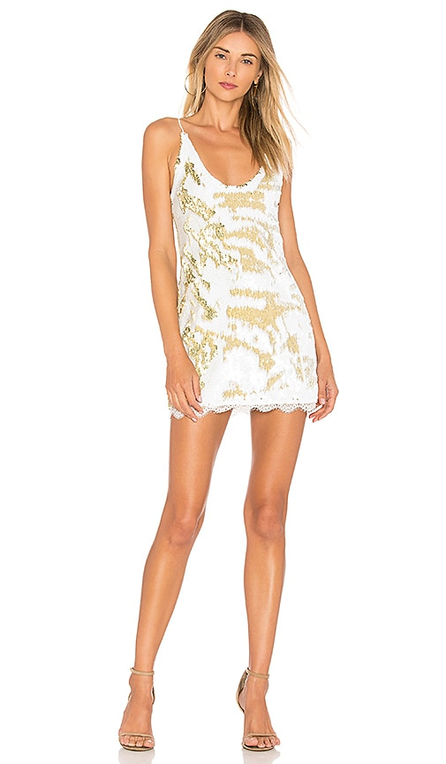 Free People Seeing Double Sequin Slip Dress in White