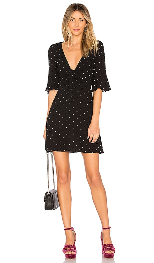 Free People All Yours Mini Dress in Black