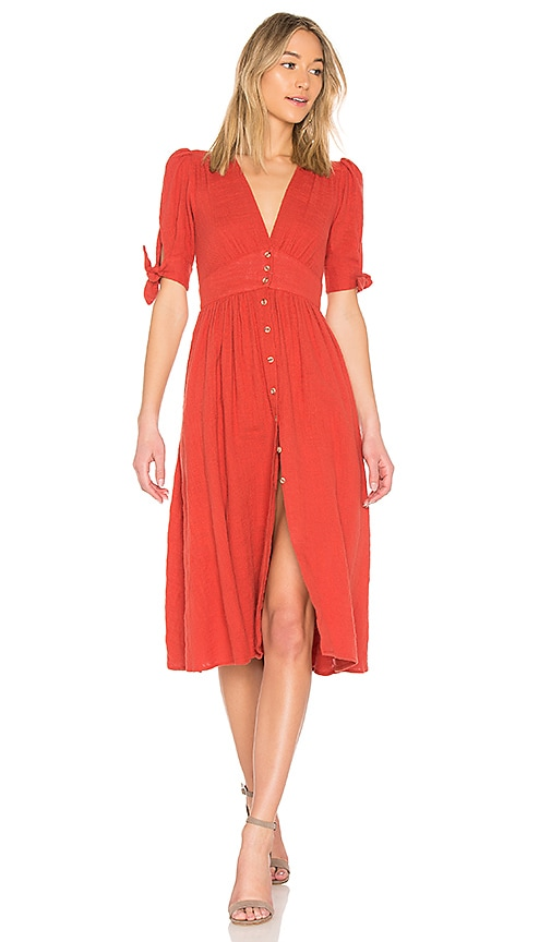 Free People Love Of My Life Dress in Burnt Orange