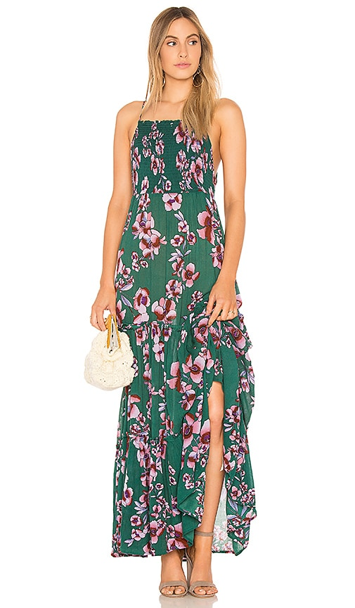 Free People Garden Party Maxi Dress in Green
