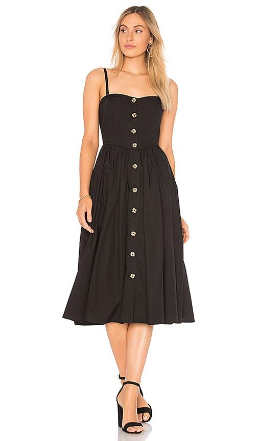 Free People Perfect Peach Poplin Midi Dress in Black