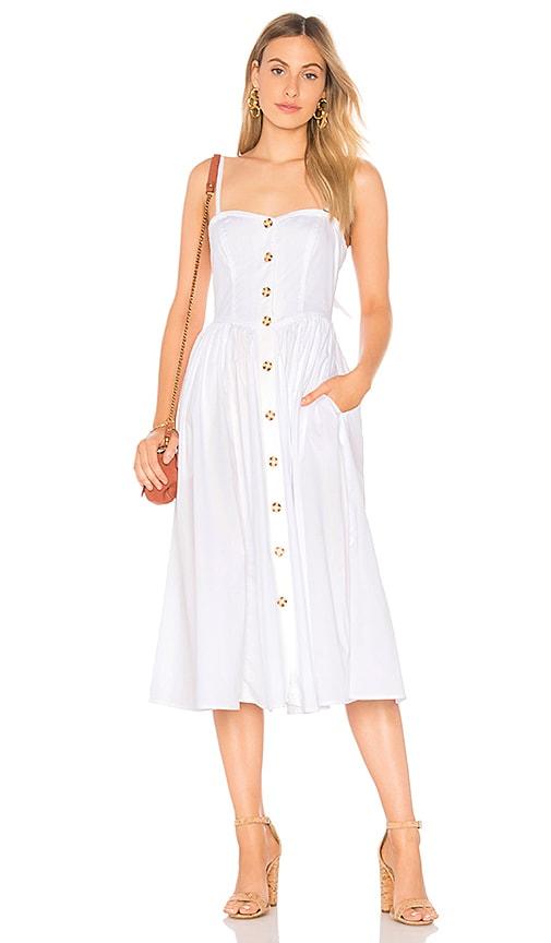 Free People Perfect Peach Poplin Midi Dress in White