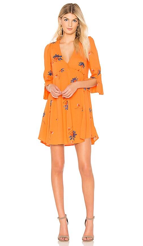 Free People Time On My Side Mini Dress in Orange