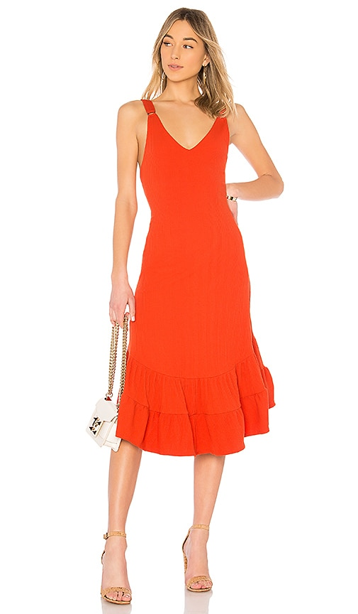 Free People Into You Maxi Dress in Burnt Orange