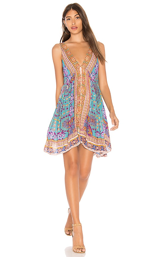 Free People Gypsy Trapeze Slip Dress in Blue