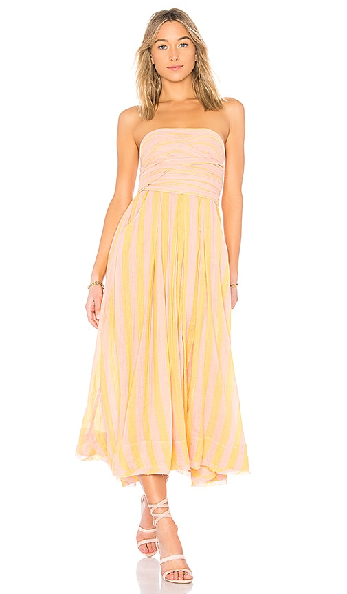 Free People Stripe Me Up Dress in Coral