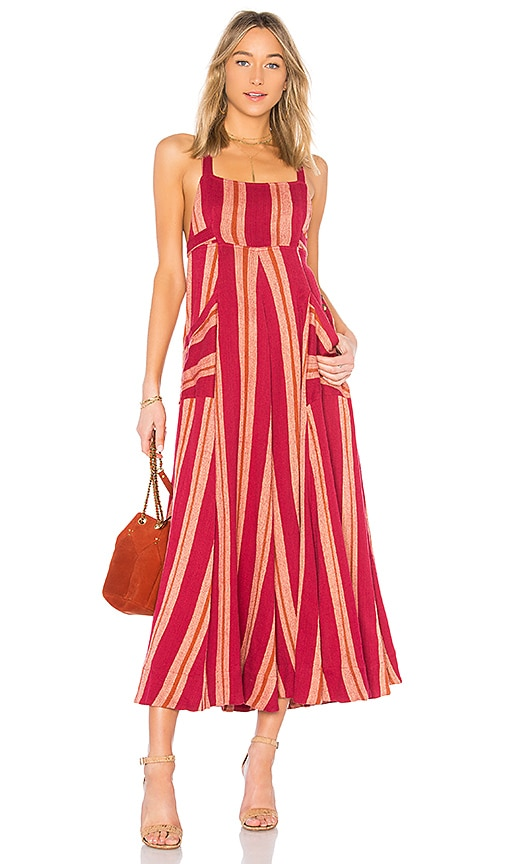 Free People Chante Maxi Dress in Red