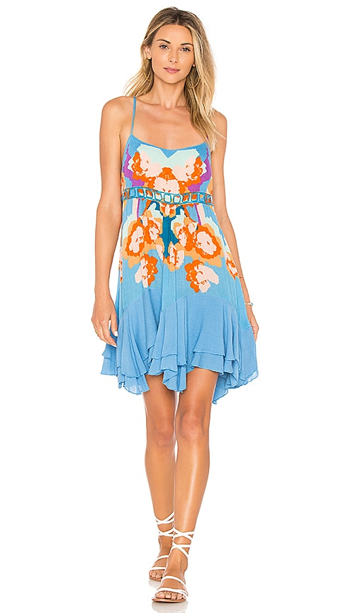 Free People Sweet Lucy Slip Dress in Blue