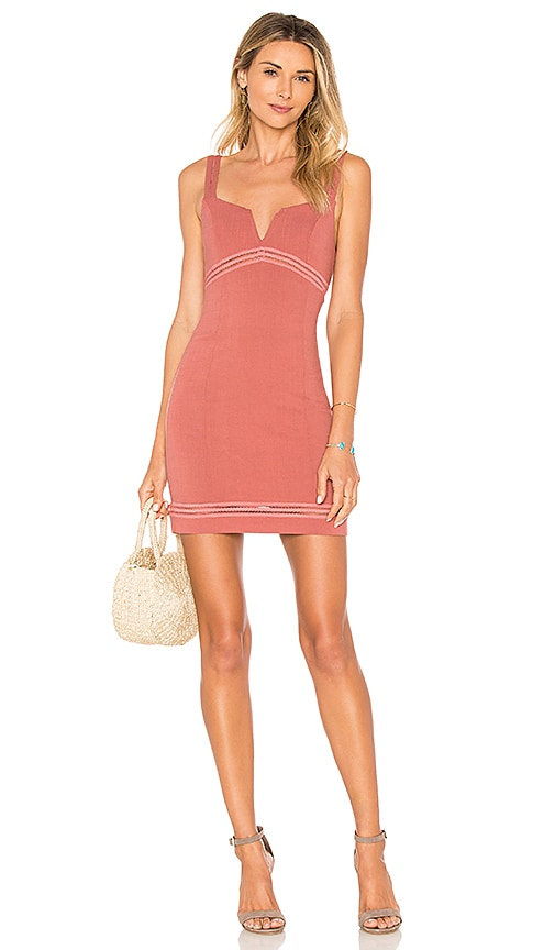 Free People Simply Be Bodycon Dress in Rust