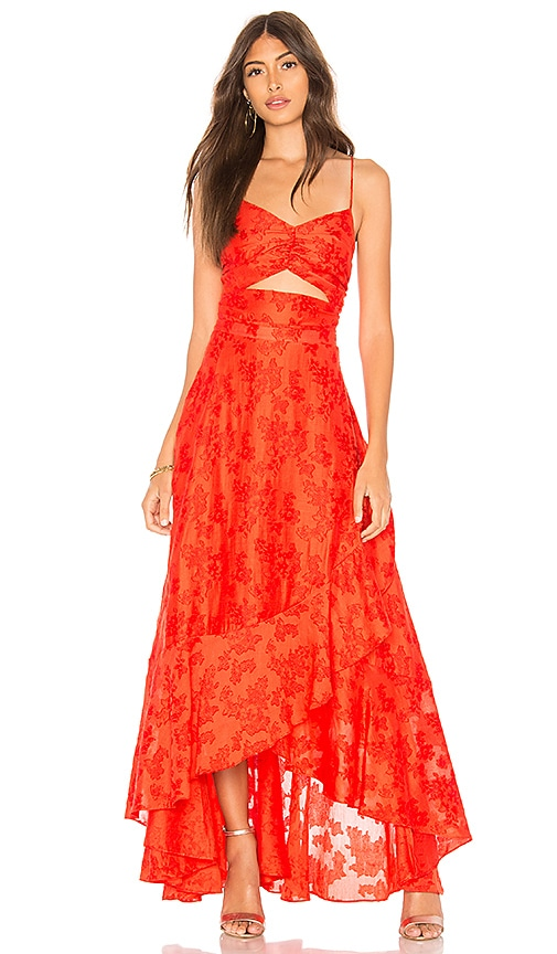 Free People Buona Sera Maxi Dress in Rust