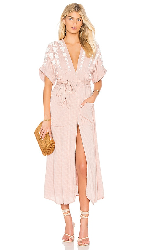 Free People Love To Love You Dress in Blush