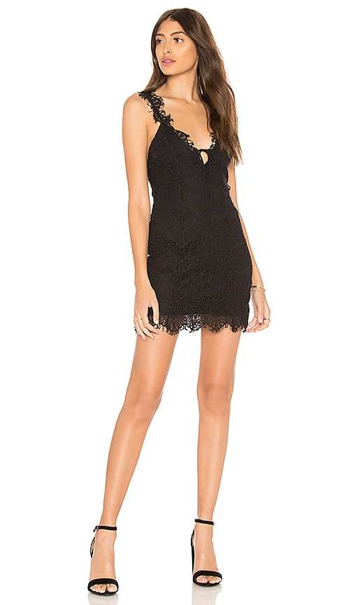 Free People Night Moves Bodycon Dress in Black