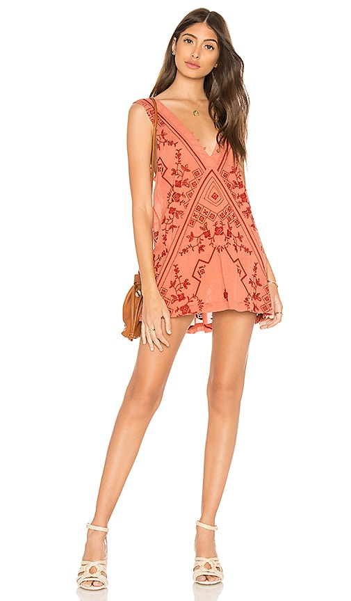 Free People Sweetest Shifty Slip Dress in Brick