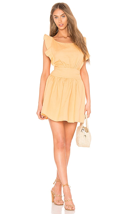 Free People New Erin Mini Dress in Yellow