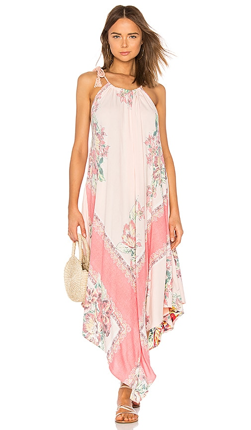 Free People Mind's Eye Maxi Dress in Peach
