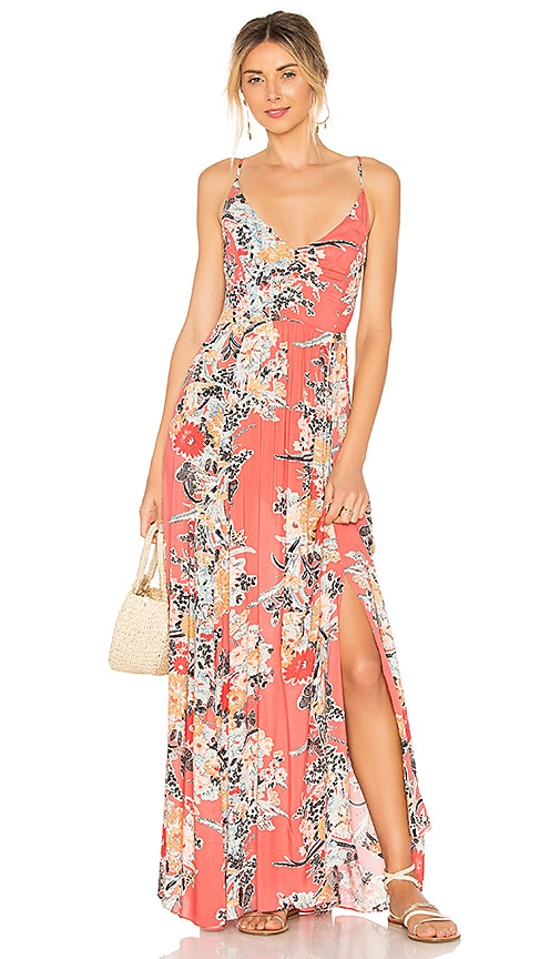 Free People Through The Vine Printed Maxi Dress in Pink