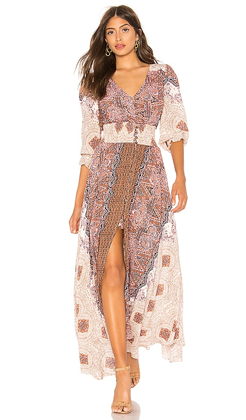 Free People Mexicali Rose Maxi Dress in Pink